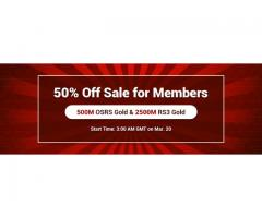 Never Miss the Chance to Purchase 50% Off RuneScape Gold as RSorder Member on Mar.20