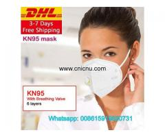 KN95 Mask With Breathing Valve 6 layers Masks