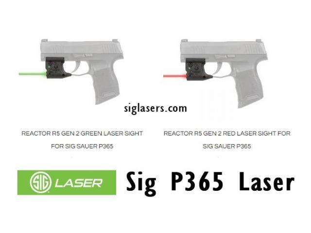 Sig P365 Laser Accessories