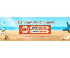 Come to RSorder Summer Flash Sale to Gain RS 07 Gold for Free on July 13