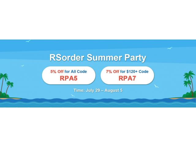 Hurry to Get RSorder Summer Party 7% Off for Runescape 2007 Gold in the Last 2 Days