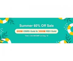 Awsome Price 60% Off Cheap RuneScape Gold to Obtain from RSorder Summer Sale on Aug 10