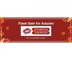 RSorder 2020 Autumn Flash Sale: Free Runescape 2007 Gold Online for U on Sept 7