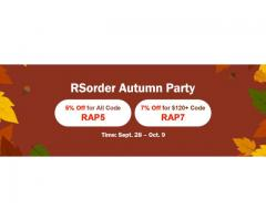 Get Prepared for RSorder Autumn Party to Take RS 07 Gold with 7% Discount