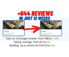 More reviews on Google, Yelp, Facebook & Co for your company