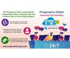 Outbound Calling with Progressive Dialer by Asterisk2voip Technologies