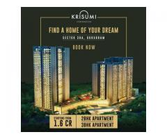 3 bhk krisumi waterfall residences flat in NH 8 Gurgaon