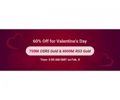 RSorder 60% Off for Valentine's Day: Take 60% Off RSGold on Feb. 8