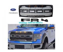 Ford F150 Racing Grills ABS Front Bumper Grille Raptor With LED Light