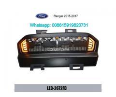 Ford Ranger Grills Car Front Bumper Grille With LED Light