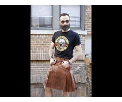 Leather Kilts - Leather Kilts For Sale | Fashion Kilt