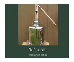 Get a Reflux still for obtaining a flavourless and odourless end-product