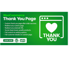 WooCommerce thank you page.
