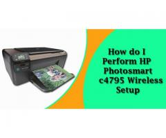 How do I perform  HP Photosmart C4795 Wireless Setup?